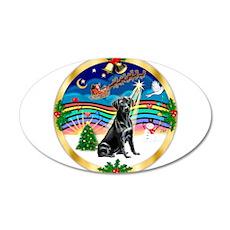 XmasMusic3/Labrador Retriever 22x14 Oval Wall Peel