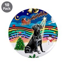 "XmasMusic3/Labrador Retriever 3.5"" Button (10"