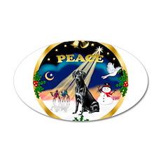 XmasSunrise/Labrador Retrieve 22x14 Oval Wall Peel