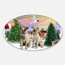 Treat for 2 Yellow Labs Decal