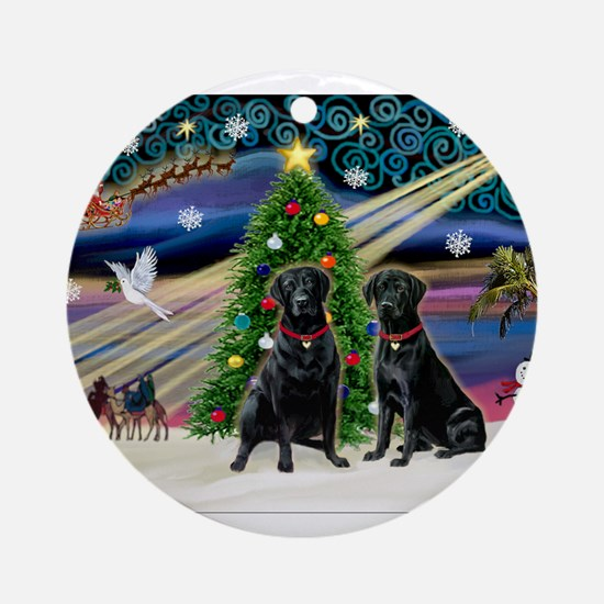 Xmas Magic & Lab PR Ornament (Round)