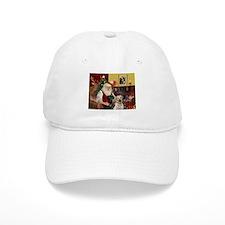 Santa's 2 Labs (Y+B) Hat