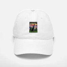 Blessed/Free-Black Lab Baseball Baseball Cap