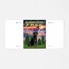 Blessed/Free-Black Lab Aluminum License Plate