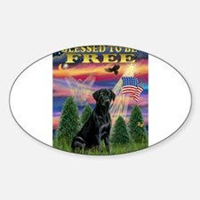 Blessed/Free-Black Lab Decal
