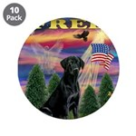 "Blessed/Free-Black Lab 3.5"" Button (10 pack)"