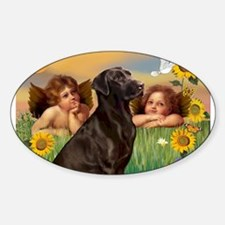 2 Angels / Chocolate Lab Decal