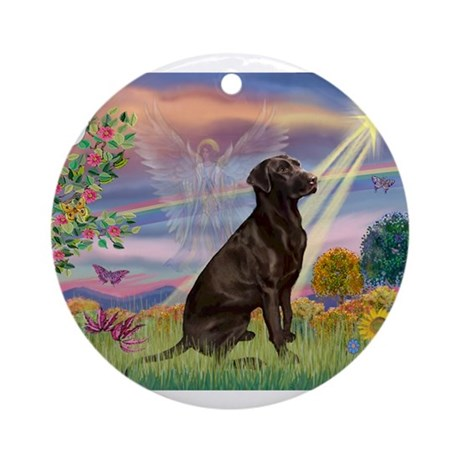Cloud Angel / Lab (c) Ornament (Round)
