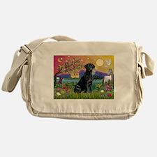 Black Lab in Fantasyland Messenger Bag