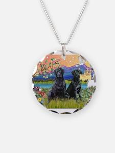 Fantasy Land/2 black Labs Necklace