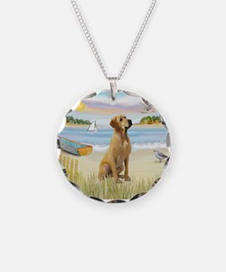 Rowboat & Yellow Lab Necklace