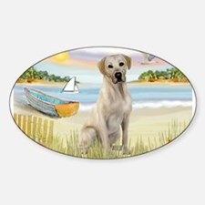Rowboat & Yellow Lab Decal