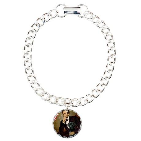 Lincoln's Black Lab Charm Bracelet, One Charm