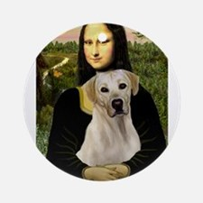 Mona & her Yellow Lab Ornament (Round)