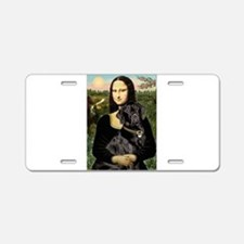Mona's Black Lab Aluminum License Plate