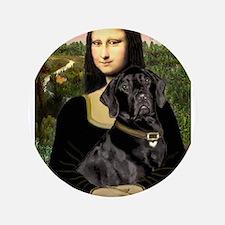 """Mona's Black Lab 3.5"""" Button"""
