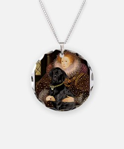The Queen's Black Lab Necklace