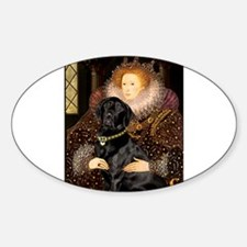 The Queen's Black Lab Decal