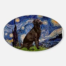 Starry Chocolate Lab Decal