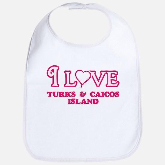 I love Turks & Caicos Island Baby Bib
