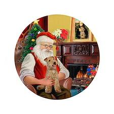 "Santa/Lakeland Terrier 3.5"" Button"