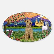 Fantasy Land Lakeland Sticker (Oval)