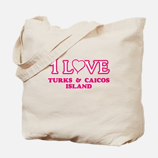 I love Turks & Caicos Island Tote Bag