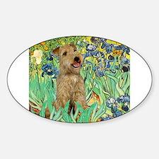 Lakeland T. & Irises Sticker (Oval)