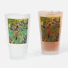 Lakeland T. & Irises Drinking Glass
