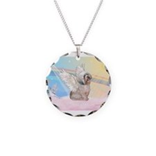 Clouds / Lhasa Apso Necklace