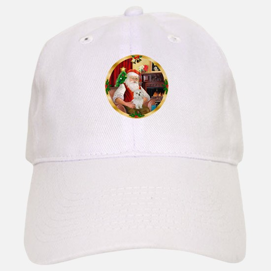 Santa's Maltese 11 Baseball Baseball Cap