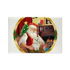 Santa's Maltese 11 Rectangle Magnet