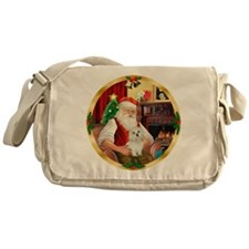 Santa's Maltese 11 Messenger Bag