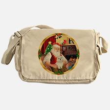 Santa's Maltese 11 Messenger Bag