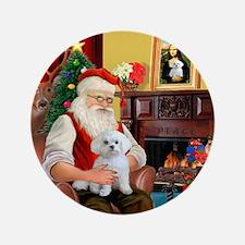 """Santa's Maltese (#11) 3.5"""" Button"""