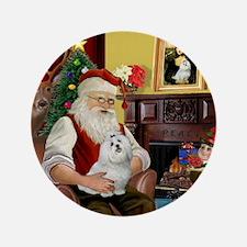 """Santa's Maltese 3.5"""" Button"""