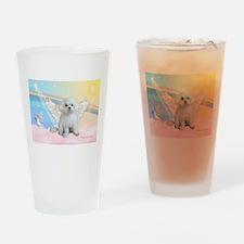 Maltese / Angel Drinking Glass