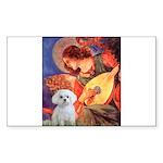 Mandolin Angel / Maltese Sticker (Rectangle 10 pk)