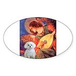 Mandolin Angel / Maltese Sticker (Oval 50 pk)