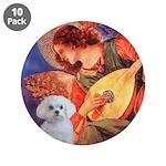"Mandolin Angel / Maltese 3.5"" Button (10 pack"