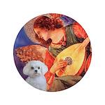"Mandolin Angel / Maltese 3.5"" Button"