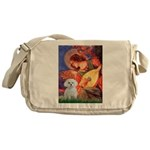 Mandolin Angel / Maltese Messenger Bag
