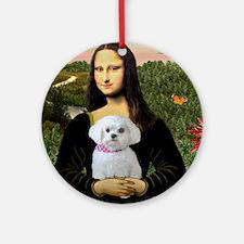 Mona's Maltese (R) Ornament (Round)