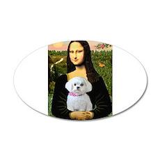 Mona's Maltese (R) 22x14 Oval Wall Peel