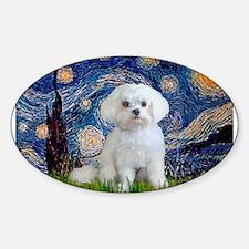 Starry / Maltese Sticker (Oval)