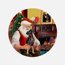 """Santa'sMiniature Pinscher 3.5"""" Button"""