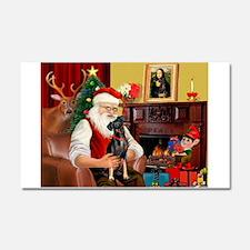 Santa'sMiniature Pinscher Car Magnet 20 x 12