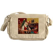 Santa'sMiniature Pinscher Messenger Bag