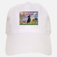 Cloud Angel Min. Pinscher Baseball Baseball Cap