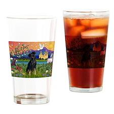 Fantasy Land & Min. Pinscher Drinking Glass